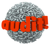 Audit Word Ball Anxiety Fear Tax Financial Accounting Practices Royalty Free Stock Image