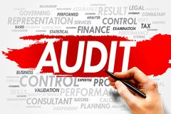 AUDIT. Word cloud, business concept royalty free stock photo