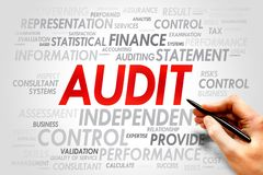 AUDIT. Word cloud, business concept stock photography