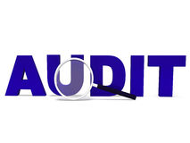 Audit Word Means Validating Auditing Or Scrutiny royalty free illustration