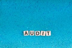 Audit word on stone royalty free stock image