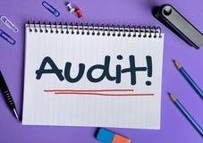 Audit word Royalty Free Stock Image
