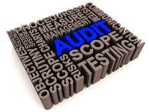 Audit words collage Stock Images