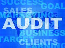 Audit Words Represents Finances Validation And Accounting Stock Photo