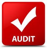 Audite (valide el icono) el botón del cuadrado rojo libre illustration