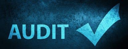 Audite (valide el icono) el fondo azul especial de la bandera libre illustration