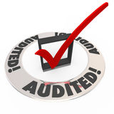 Audited Check Mark Box Financial Inspection Approval Stock Photography