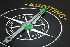 Auditing compass concept, 3d stock illustration