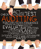 AUDITING concept words Royalty Free Stock Photo