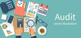 Auditing concepts vector Stock Photography