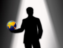 Audition for a new role in the world of business royalty free illustration