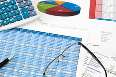 Auditoría financiera Fotografía de archivo libre de regalías