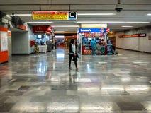 Auditorio地铁站在波朗科,墨西哥城 免版税图库摄影