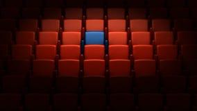 Auditorio con un asiento reservado Imagen de archivo libre de regalías