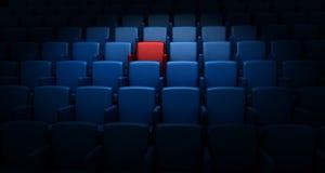 Auditorio con un asiento reservado Fotos de archivo libres de regalías