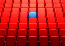 Auditorio con un asiento reservado Foto de archivo