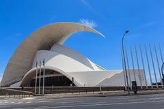 Auditorio de特内里费岛-未来派音乐厅,设计由圣地牙哥・卡拉特拉瓦 库存图片
