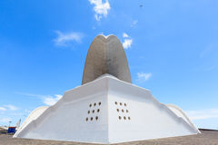 Auditorio de特内里费岛-未来派音乐厅,设计由圣地牙哥・卡拉特拉瓦 免版税库存照片