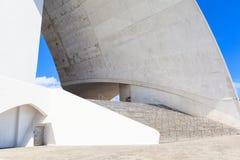 Auditorio de特内里费岛-未来派音乐厅,设计由圣地牙哥・卡拉特拉瓦 库存照片