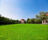 Auditorio de la universidad de Tsinghua imagen de archivo libre de regalías