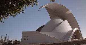 Auditorio de Tenerife stock video footage