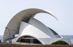 Auditorio de Tenerife kanariefågelöar, Spanien Arkivfoto