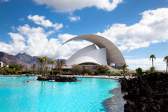 Auditorio DE Tenerife in Kerstman Cruz. Tenerife royalty-vrije stock fotografie