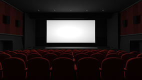 Auditorio del cine Imagen de archivo libre de regalías