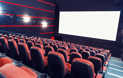 Auditorio del cine foto de archivo