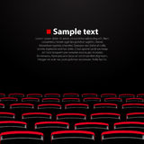 Auditorio del cine del vector con los asientos ilustración del vector