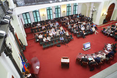 Auditorio en Rusia Marine Industry Conference 2012 Imagen de archivo libre de regalías