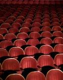 Auditorio rojo Foto de archivo libre de regalías