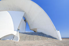 Auditorio in Santa Cruz de Tenerife side view Stock Image