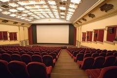 Auditorio vacío del cine Foto de archivo libre de regalías