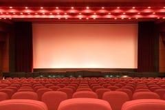Auditorio vacío del cine fotos de archivo