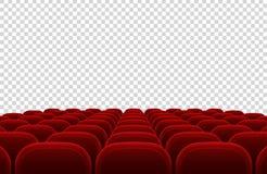Auditorio vacío del cine con los asientos rojos Ejemplo interior del vector del pasillo del cine ilustración del vector