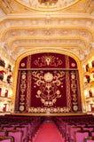 Auditorio y cortina Fotografía de archivo libre de regalías