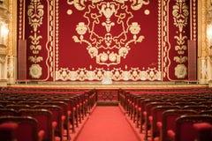 Auditorio y cortina Fotos de archivo