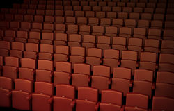 Auditorium. High quality 3D rendered illustration of theater/cinema seating Royalty Free Stock Photography