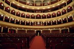 Auditorium. An interior of opera theatre. Odessa, Ukraine stock photography