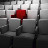 Auditorium. The auditorium with one reserved seat stock illustration