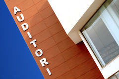 Auditorium. A modern auditorium with lettering royalty free stock photo