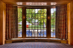 Auditorium from bay window frame Royalty Free Stock Photography