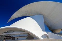 Auditorium bij Santa Cruz Tenerife Spain-horizontale detailsbovenkant Stock Foto