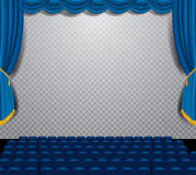 Auditorium blue square Royalty Free Stock Photo