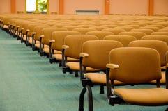 Auditorium chairs Stock Photo
