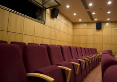 Auditorium chairs Stock Photography