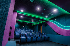 Auditorium in cinema Royalty Free Stock Images