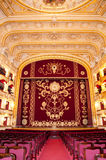 Auditorium and curtain Royalty Free Stock Photography