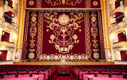 Auditorium and curtain Stock Photography